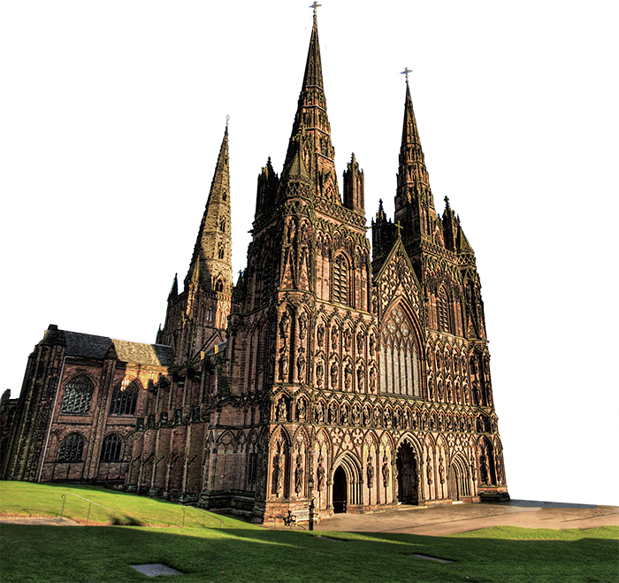 Front Glass Elevation House : Lichfield cathedral